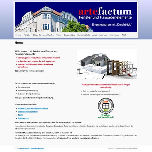 Artefactum-Fenster